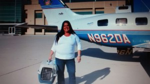 "Theresa and a Pedro Pet at San Bernardino Airport ""Ready for Take Off"""