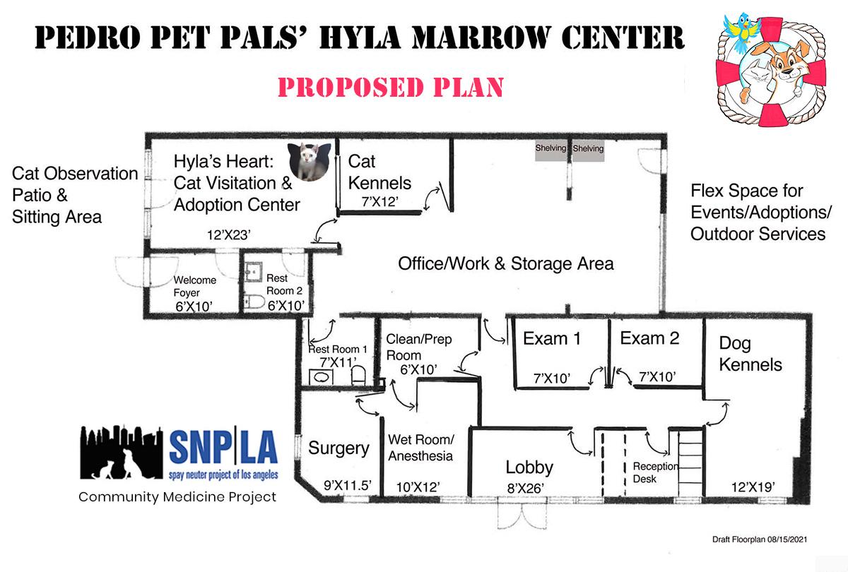proposed floor plan to Hyla Marrow Center