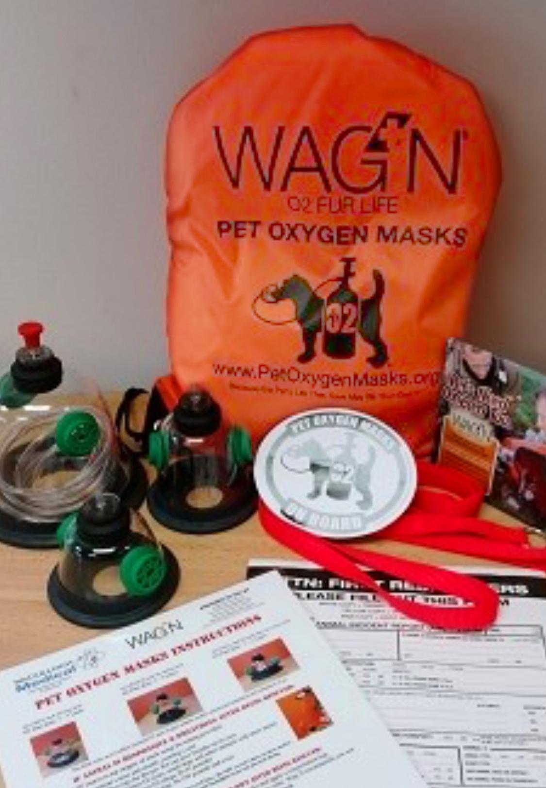 WAG'N oxygen masks for pets