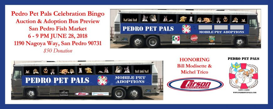 Pedro Pet Pals Mobile Pet Adoption bus