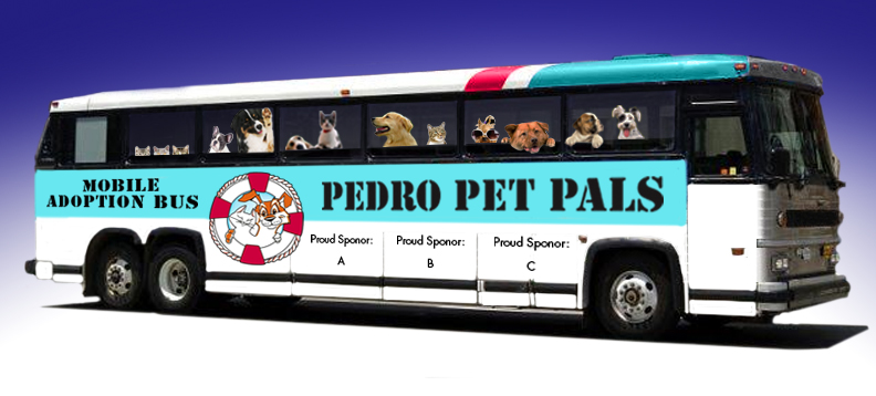 pedro pet pals adoption bus